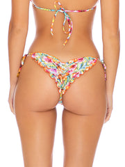 Luli Fama Ruffle Seamless Brazilian Tie Side Multicolor, view 2, click to see full size