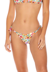 Luli Fama Ruffle Seamless Brazilian Tie Side Multicolor, view 1, click to see full size