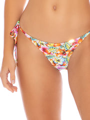 Luli Fama Ruffle Seamless Brazilian Tie Side Multicolor, view 5, click to see full size