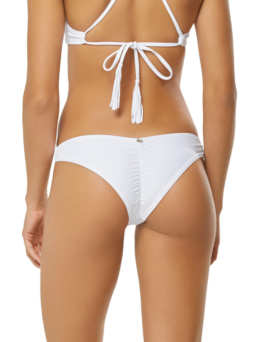 PilyQ Water Lily Basic Ruched Teeny White