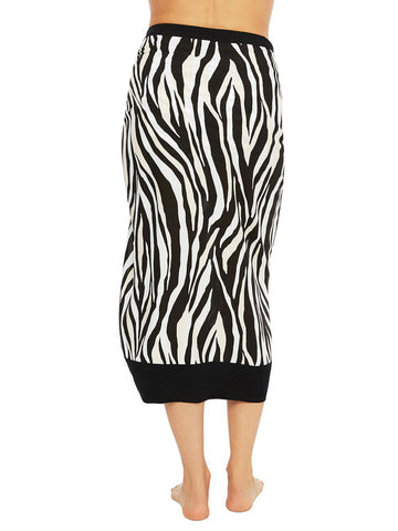 La Blanca Abstract Zebra Pareo Black/Cream