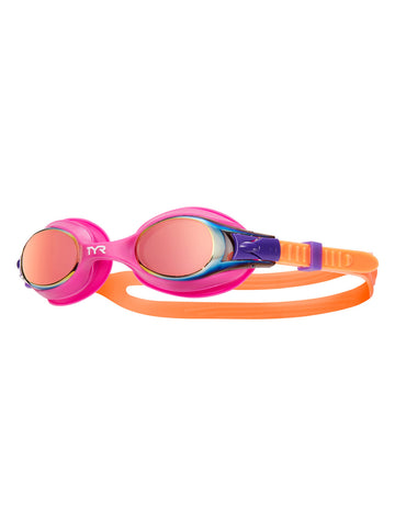 TYR Junior/Youth Swimple Goggles Pink Purple