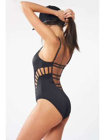 Red Carter Brittany One Piece Black