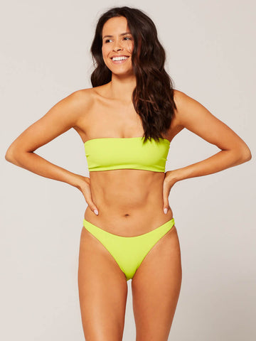 L*Space Ridin' High Beach Wave Bandeau Acid Green