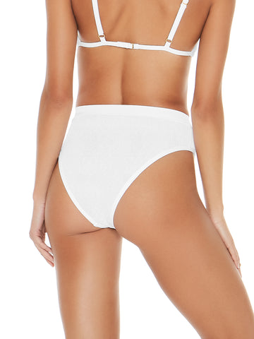 L*Space Frenchi High Waist Bottom White