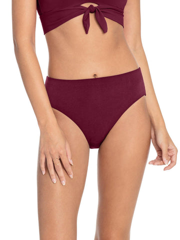 Robin Piccone Ava High Waist Bottom Eggplant