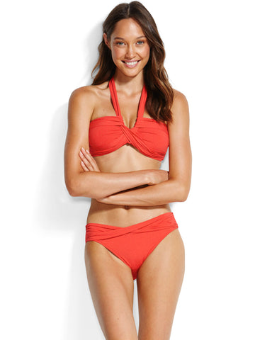 Seafolly Bandeau Chilli Red