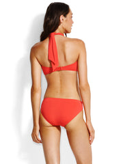 Seafolly Bandeau Chilli Red, view 2, click to see full size