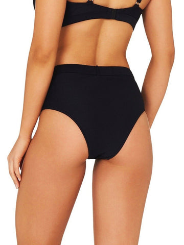 Baku Rococco Belted High Waist Bottom Black