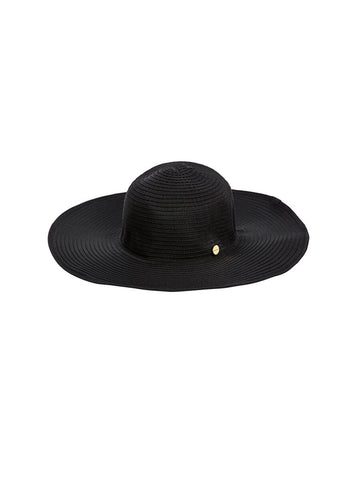Seafolly Lizzy Ribbon Hat Black