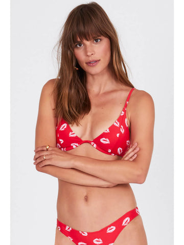 Amuse Society Besos Underwire Top Cherry