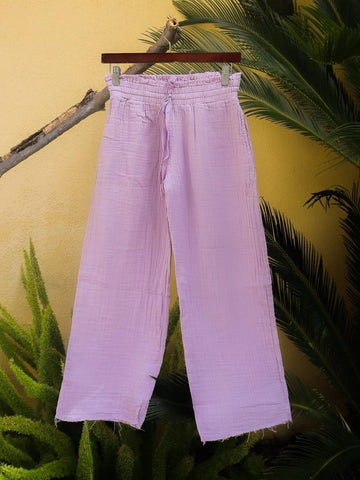 Billy Pants Crop In Lavender Grey