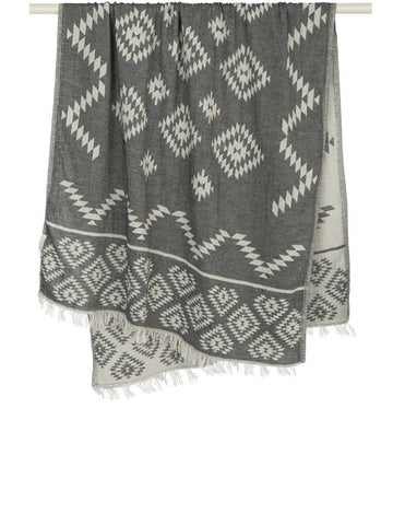 Handloom Tribe Towel Black