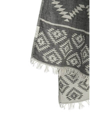 Handloom Tribe Towel Black, view 1, click to see full size