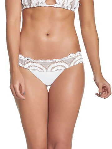 PilyQ Water Lily Lace Teeny Bottom White