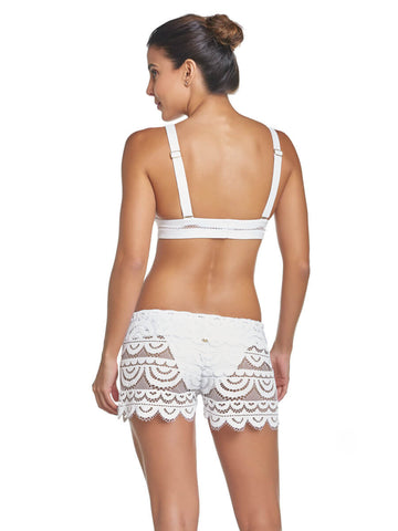 PilyQ Water Lily Lexi Short White
