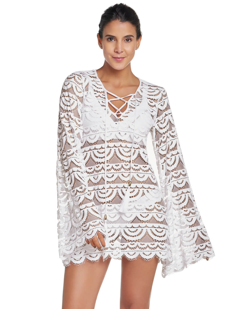 PilyQ Water Lily Noah Tunic White