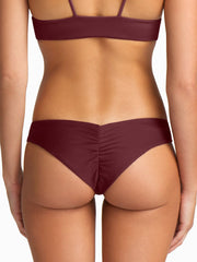 Boys + Arrows Clairee Bottom Burgundy, view 2, click to see full size