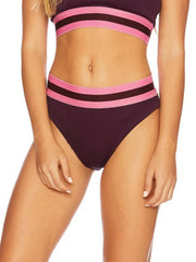 Beach Riot Harper Full Bottoms Maroon