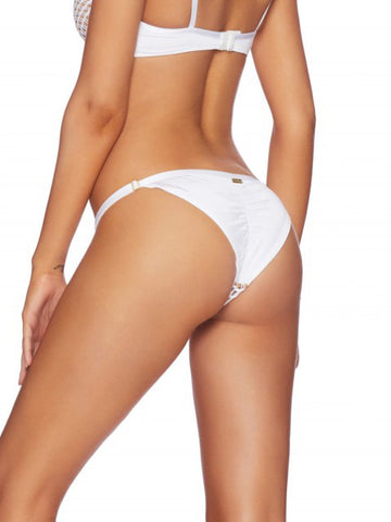 Beach Bunny Ava Skimpy Bottom White