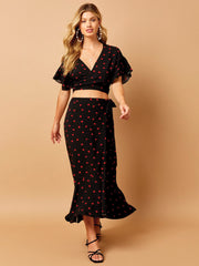 Beach Bunny Gentry Skirt Hearts, view 3, click to see full size