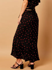 Beach Bunny Gentry Skirt Hearts, view 2, click to see full size