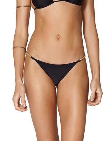 ViX Solid Elis Detail Brazilian Bottom Black