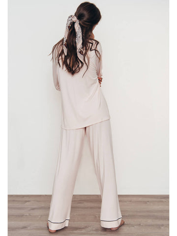 Eberjey Gisele Long PJ Set in Sorbet/Black