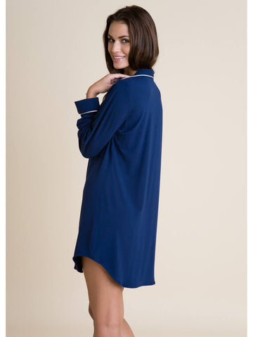Eberjey Gisele Sleep Shirt in Navy/Ivory