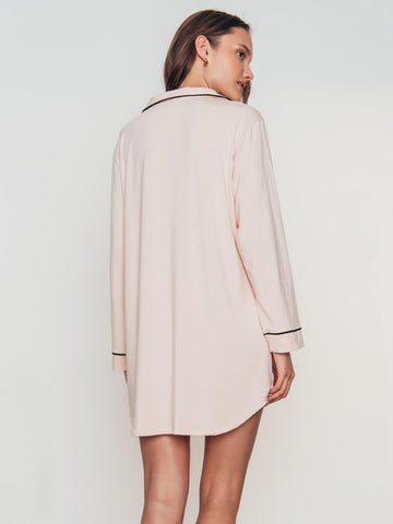 Eberjey Gisele Sleep Shirt in Sorbet/Black