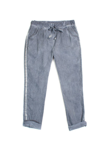 Elissia Crinkle Pants In Denim