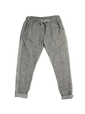 Elissia Crinkle Pants In Grey