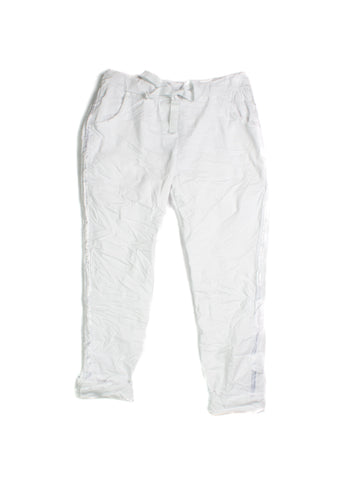 Elissia Crinkle Pants In White