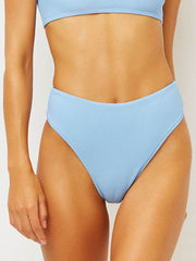 Frankies Bikinis Jenna Bottom in Chambray, view 1, click to see full size
