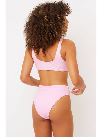 Frankies Bikinis Connor Top in Love Pink