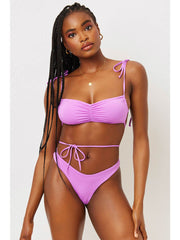 Frankies Bikinis Foxy Top In Passionfruit, view 1, click to see full size