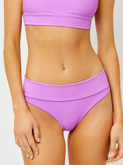 Frankies Bikinis Gavin Ribbed Bottom In Passionfruit, view 1, click to see full size