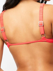 Frankies Bikinis Greta Top Coral, view 4, click to see full size