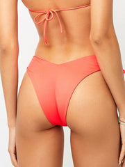Frankies Bikinis Reece Bottom Coral, view 2, click to see full size
