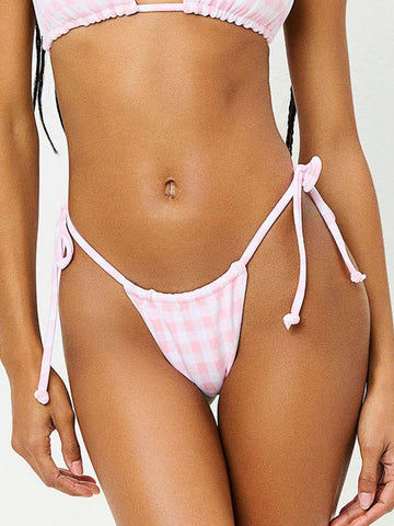 Tia Gingham Bottom in Pink Picnic