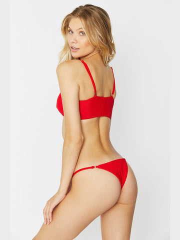 Frankies Bikinis Scarlett Top Red