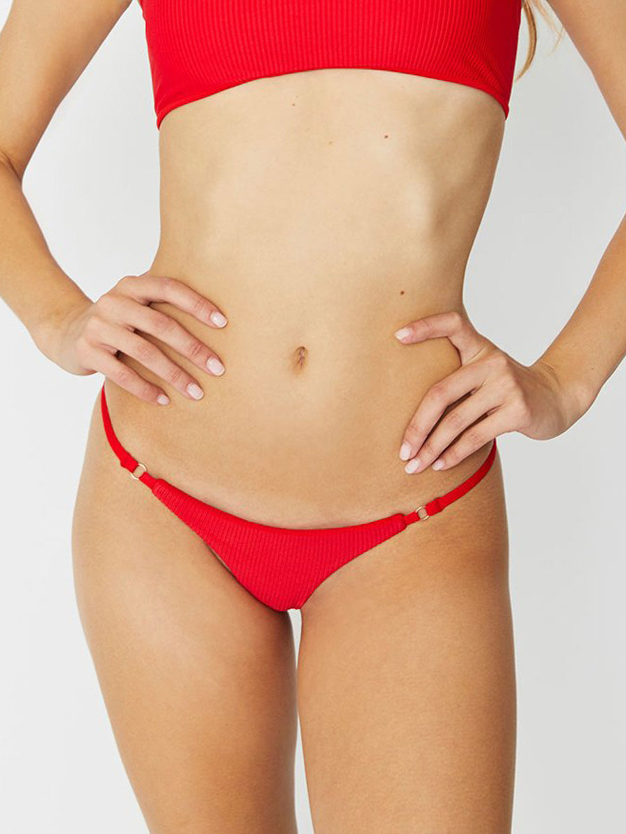 Frankies Bikinis Scarlett Bottom Skimpy Red