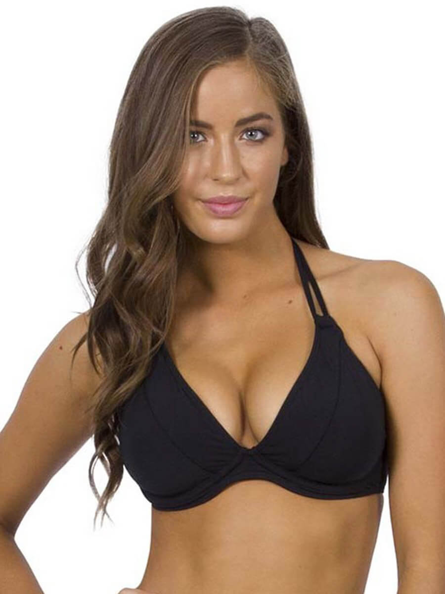 Jets DD/E Underwire Halter Top Black