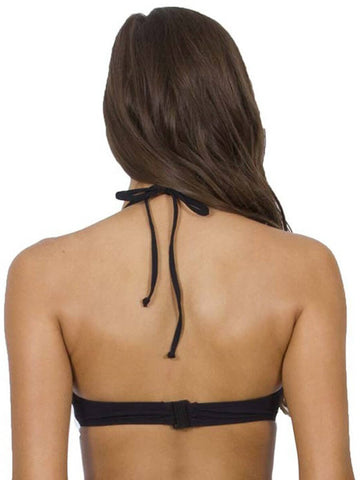 Jets Underwire Halter Black