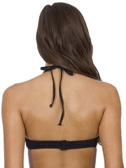 Jets DD/E Underwire Halter Top Black, view 2, click to see full size