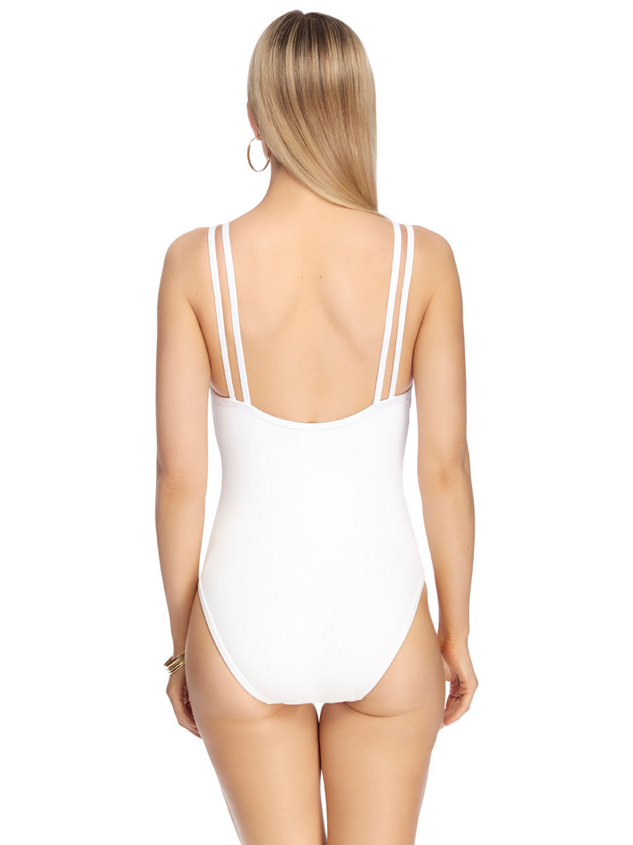 JETS Jetset Double Strap One Piece White