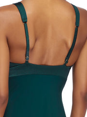 JETS Lustrous Plunge One Piece Mediterranean, view 4, click to see full size
