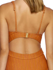 JETS Radiance Plunge One Piece Orange, view 4, click to see full size
