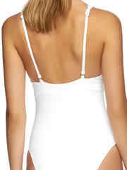 Jets Jetset Plunge One Piece White, view 4, click to see full size