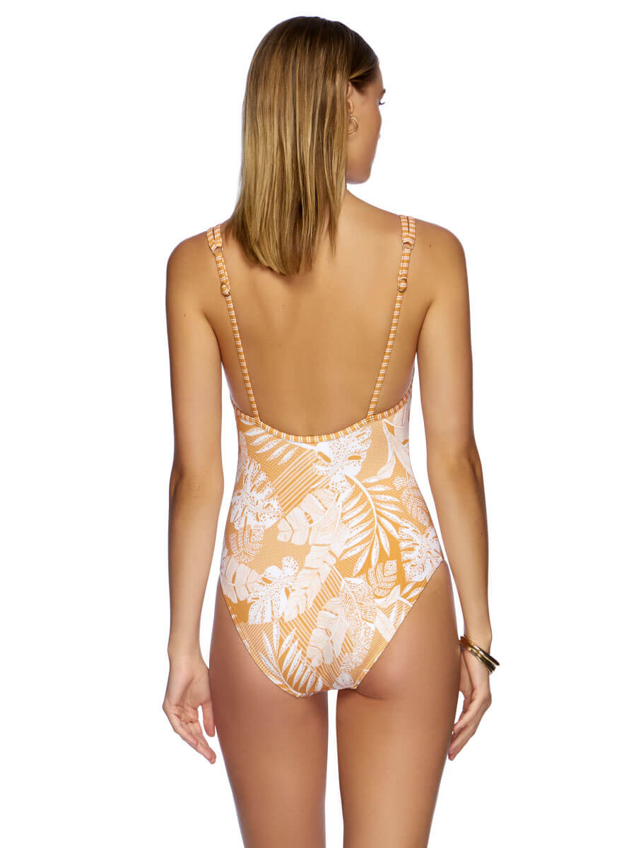 Tranquillity Double Strap One Piece Topaz/White